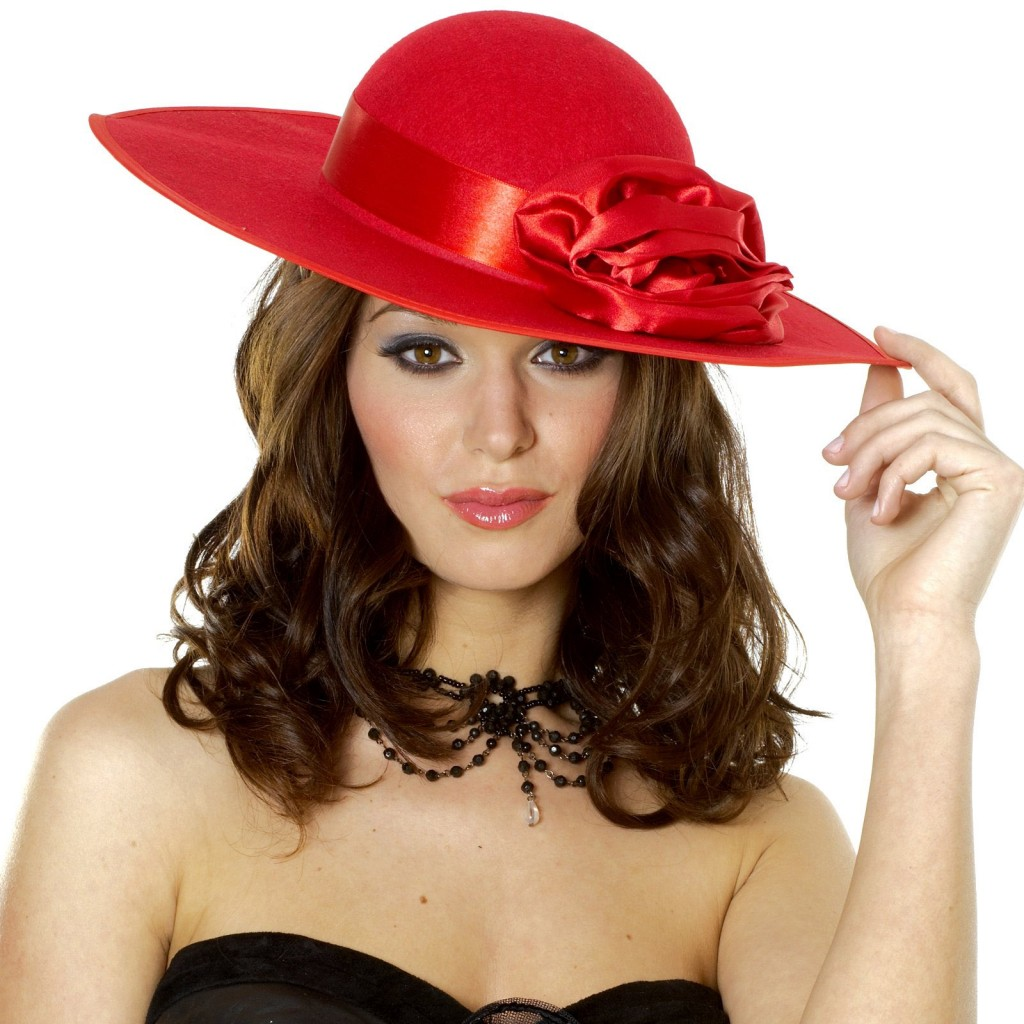 Ladies Hat Red Curly Hairstyles for Summer 2012   ShePlanet