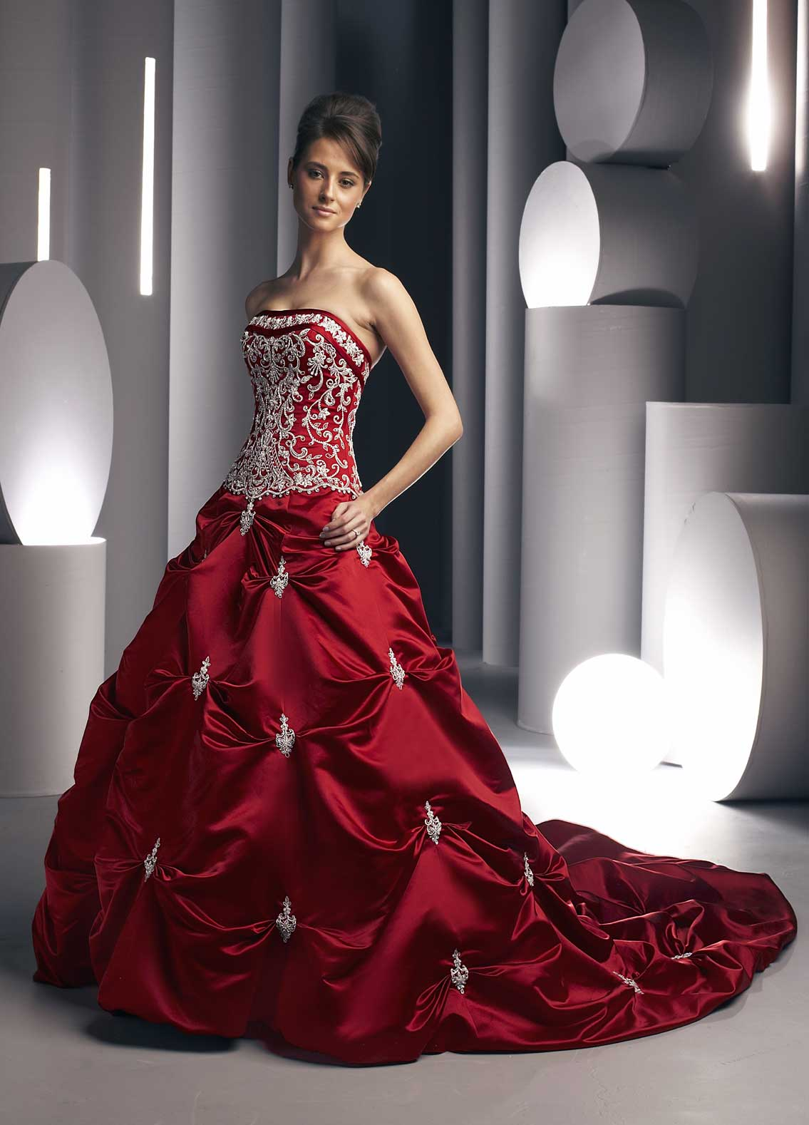 Trendy Red Wedding Dresses Pictures   ShePlanet