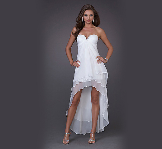Cute high low dresses designs for 2012 sheplanet for Hi lo wedding dress