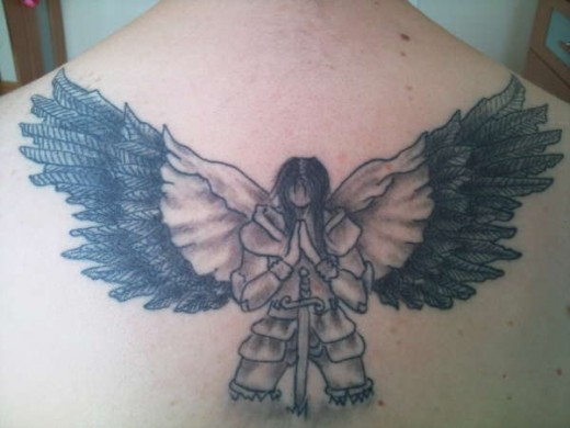 A list of beautiful angel wings tattoos pictures sheplanet for Warrior angel tattoos