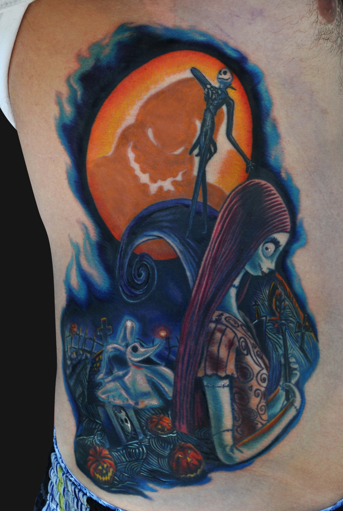 jack and sally nightmare before christmas tattoo - photo #28