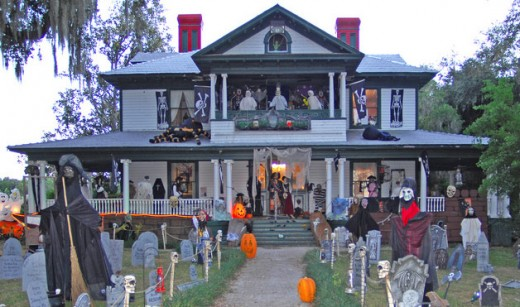 scary halloween decorations of yard - Halloween Front Yard Decoration Ideas