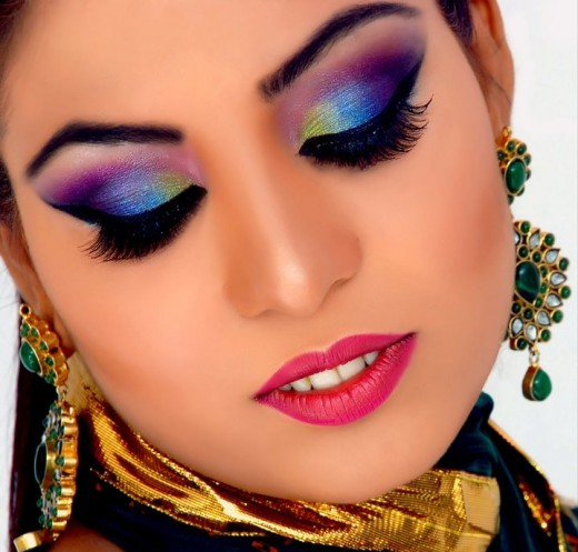 Elegant Bridal Eye Makeup Photoshoot 2014 Pictures