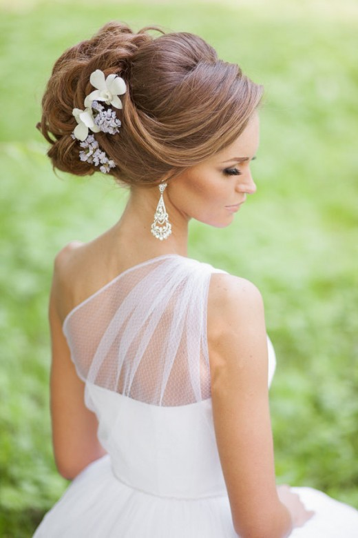New Bridal Updos Hairstyles with Flowers